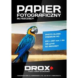Papier fotograficzny błyszczący A4 135g/m2 50 arkuszy