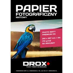Papier fotograficzny matowy A4 170g/m2 50 arkuszy