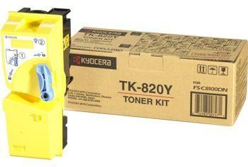 Toner oryginalny Kyocera TK-820Y