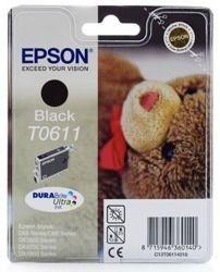 Tusz oryginalny Epson T0611 BK