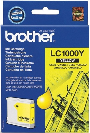 Tusz oryginalny Brother LC1000Y
