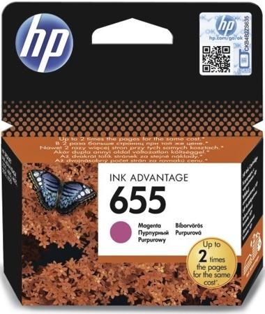 Tusz oryginalny HP 655 M (CZ111AE)